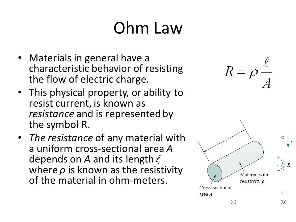 Basic laws ohm law materials in general have a characteristic ohm law materials in general have a characteristic behavior of resisting the flow of electric charge sciox Gallery