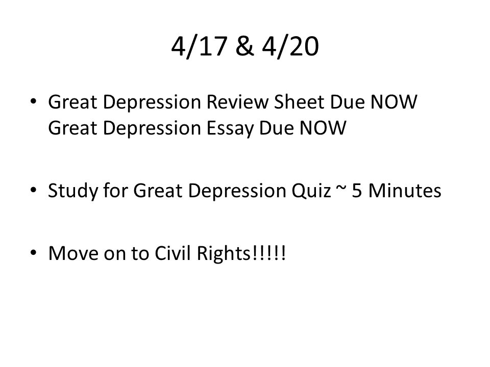 Write my essay on the great depression