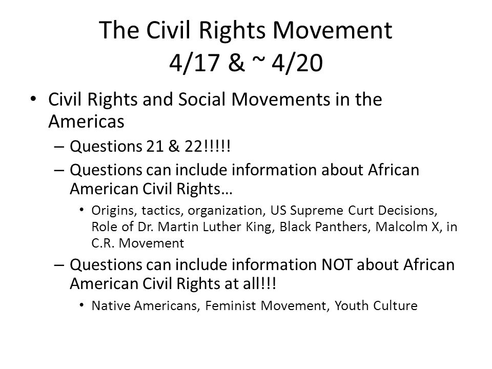 Civil right movement essay