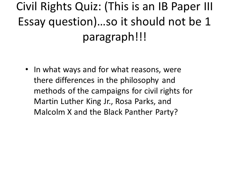 essay questions about the bill of rights The bill of rights was a response to this concern although the first ten amendments are referred to as the bill of rights, only the first eight pertain to specific rights that were often included in the state constitutions.