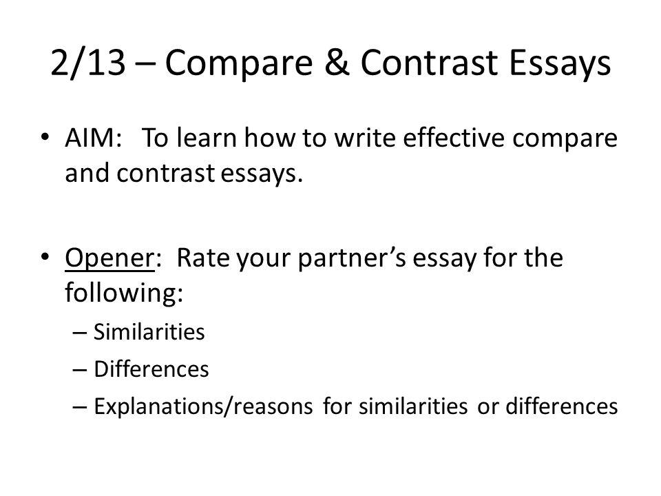 effective comparison essay