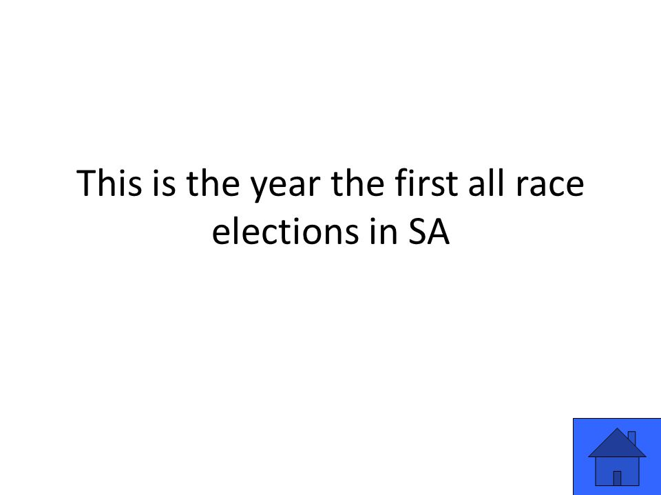 This is the year the first all race elections in SA