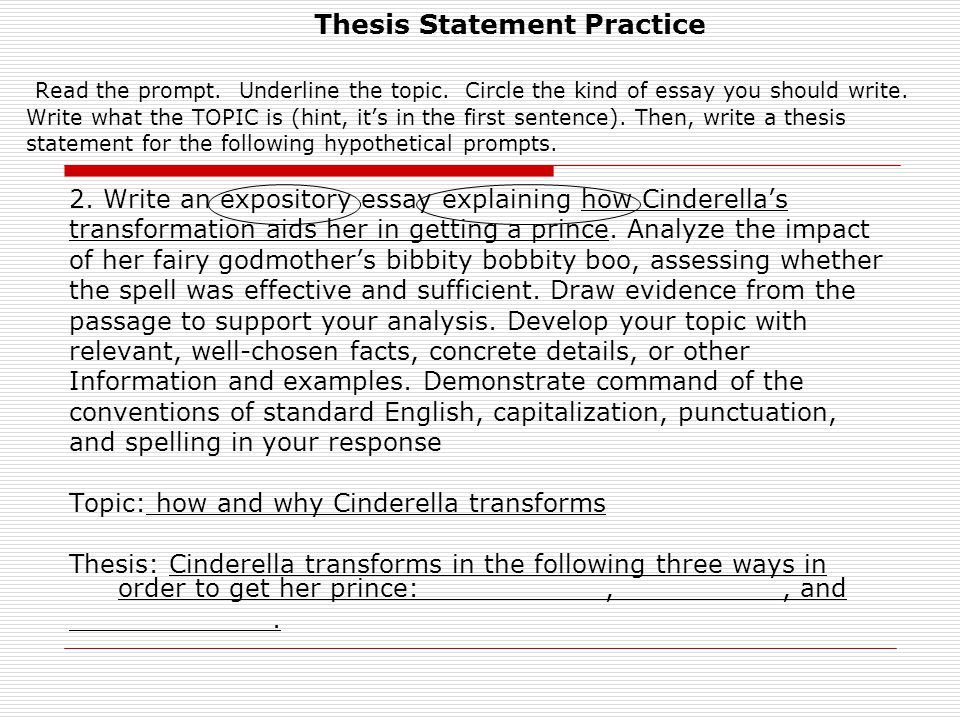 A Thesis Statement For An Essay