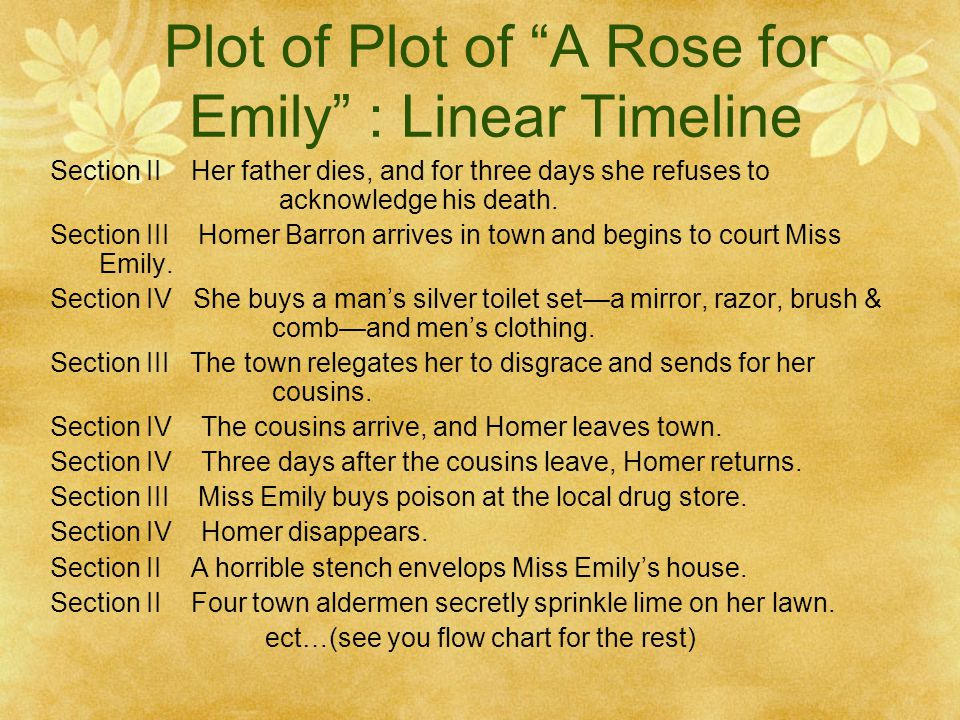 a rose for emily plot analysis essay
