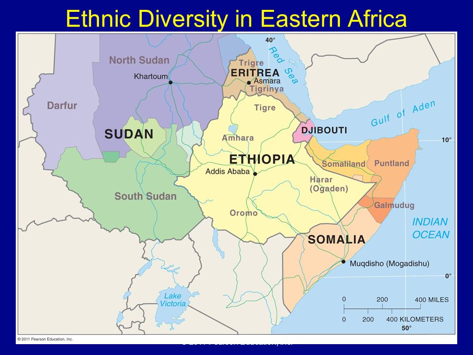© 2011 Pearson Education, Inc. Ethnic Diversity in Eastern Africa