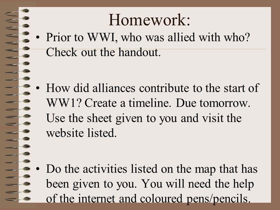 World War 1 Facts For Kids Homework