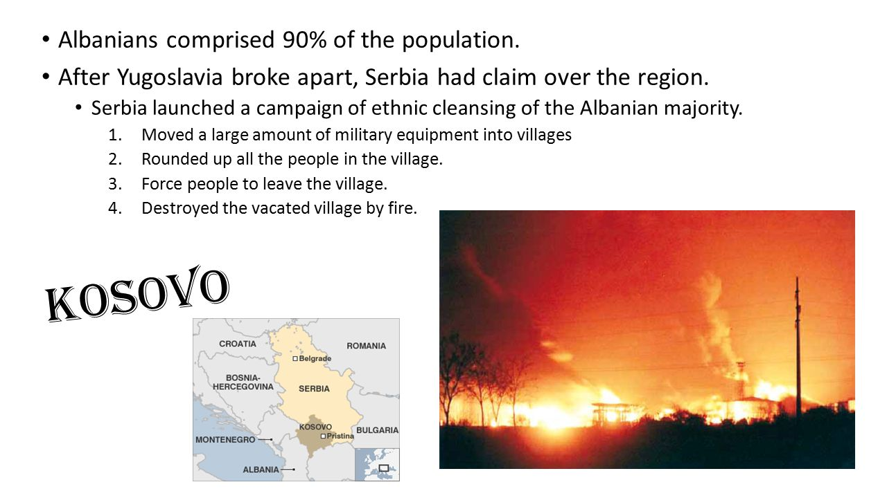 Albanians comprised 90% of the population.