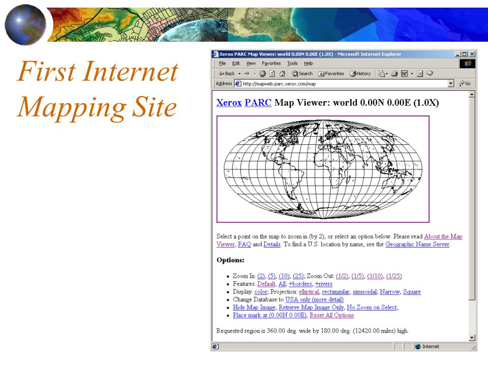 First Internet Mapping Site