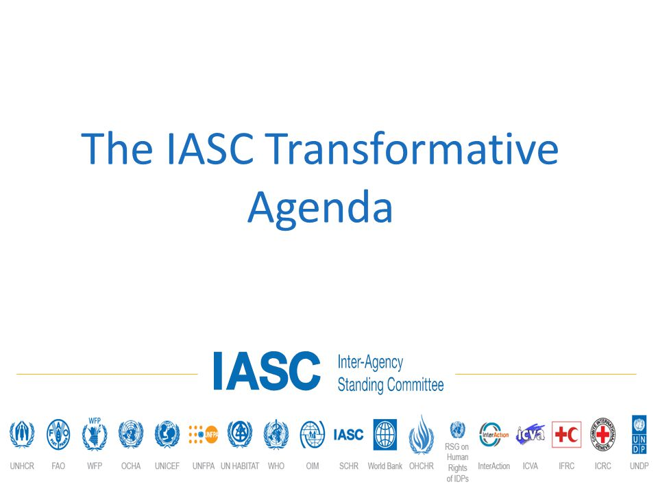 The IASC Transformative Agenda