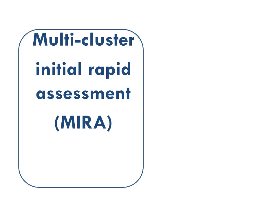 Multi-cluster initial rapid assessment (MIRA)