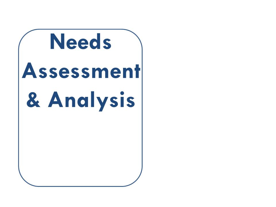 Needs Assessment & Analysis