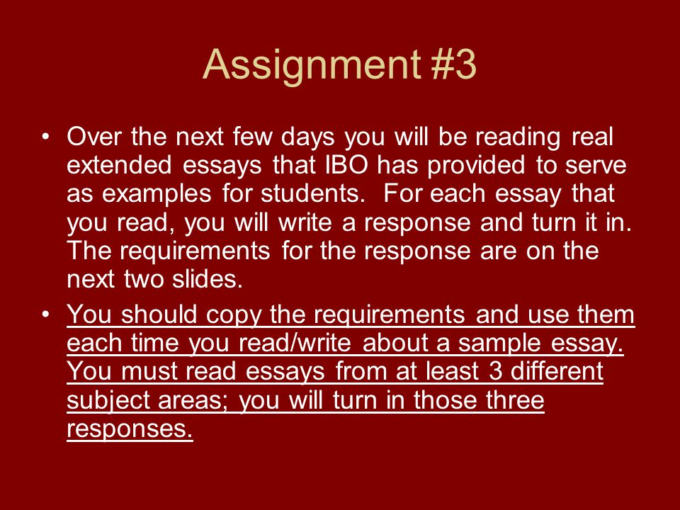 50 great extended essays ibo Extended essay topic class of 2016 international baccalaureate extended essay spanish or french extended essays must be written in the foreign language.