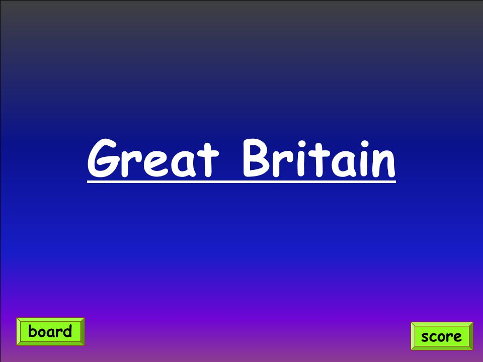 Great Britain score board