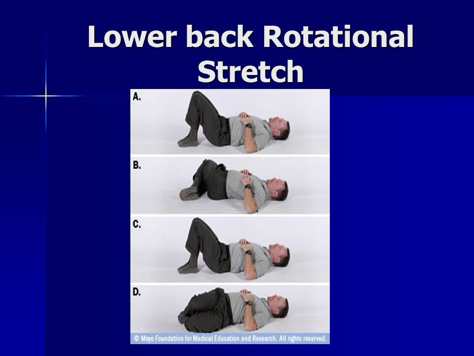 Lower back Rotational Stretch
