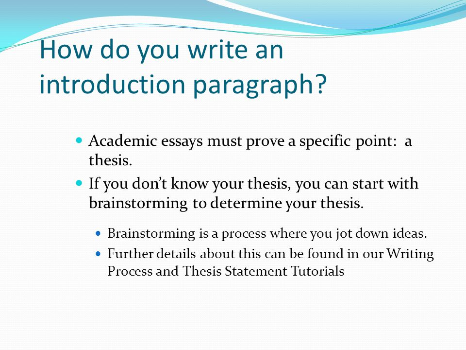 Writing an introduction to an academic essay – Academic Essay