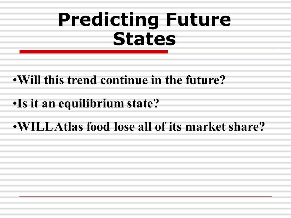 Will this trend continue in the future. Is it an equilibrium state.
