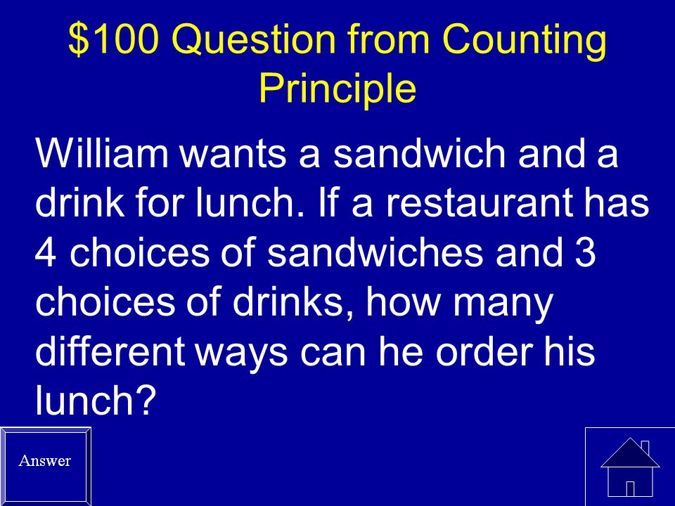 $500 Answer from Permutations or Combinations Permutations