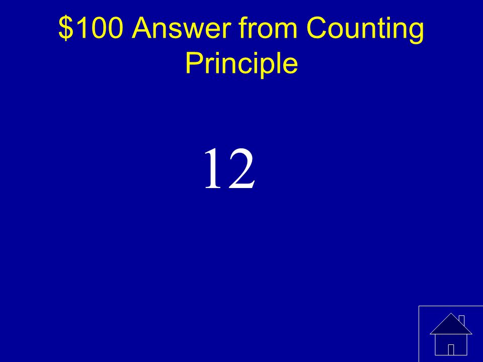 $100 Question from Counting Principle William wants a sandwich and a drink for lunch.