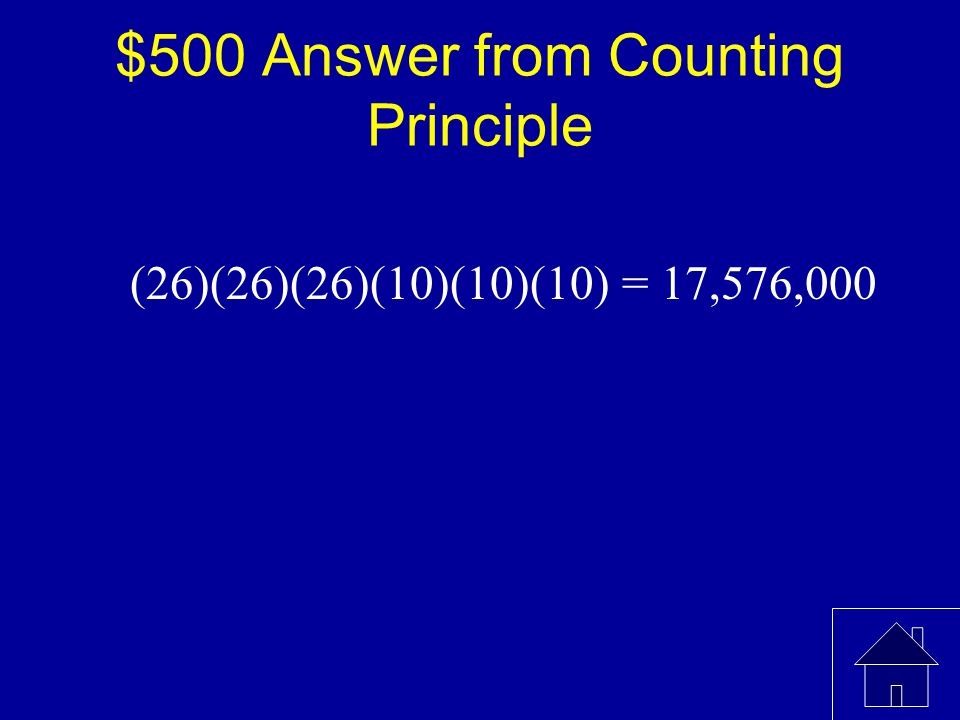 $500 Question from Counting Principle Licence Plates for cars are labelled with 3 letters followed by 3 digits.(in this case, digits refer to digits