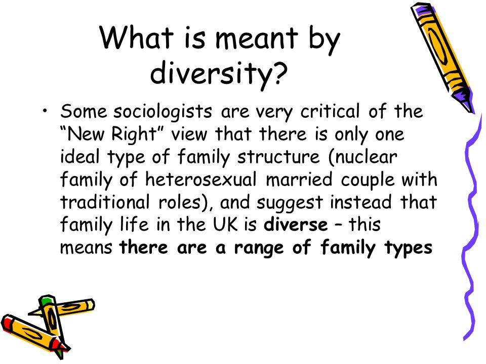 What is meant by diversity.