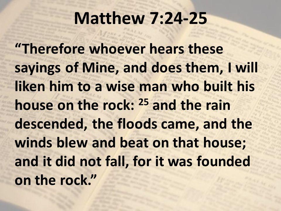 Bildresultat för Matt 7:24-25