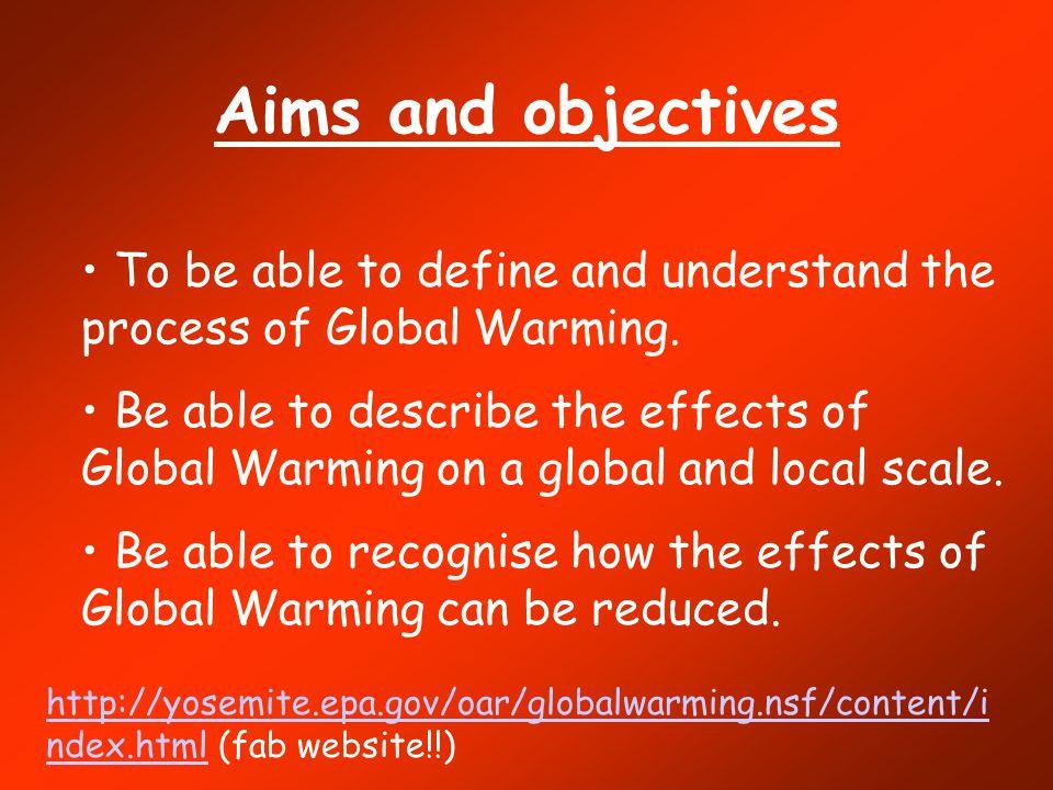 Global warming coursework?