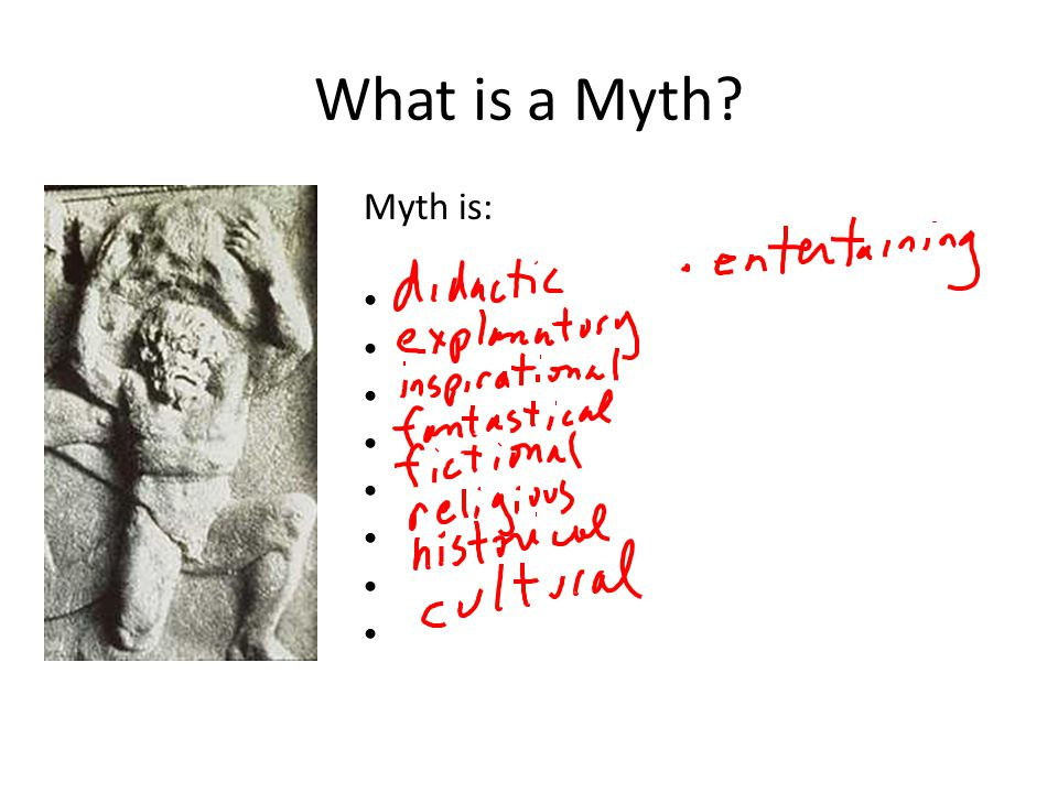 What is a Myth Myth is: