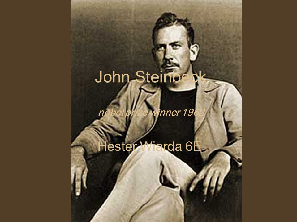 a biography of john steinbeck a 20th century novelist and a nobel prize winner Schema:name  john steinbeck : america's author @en schema:productid  39606295 schema:publication schema:publisher.