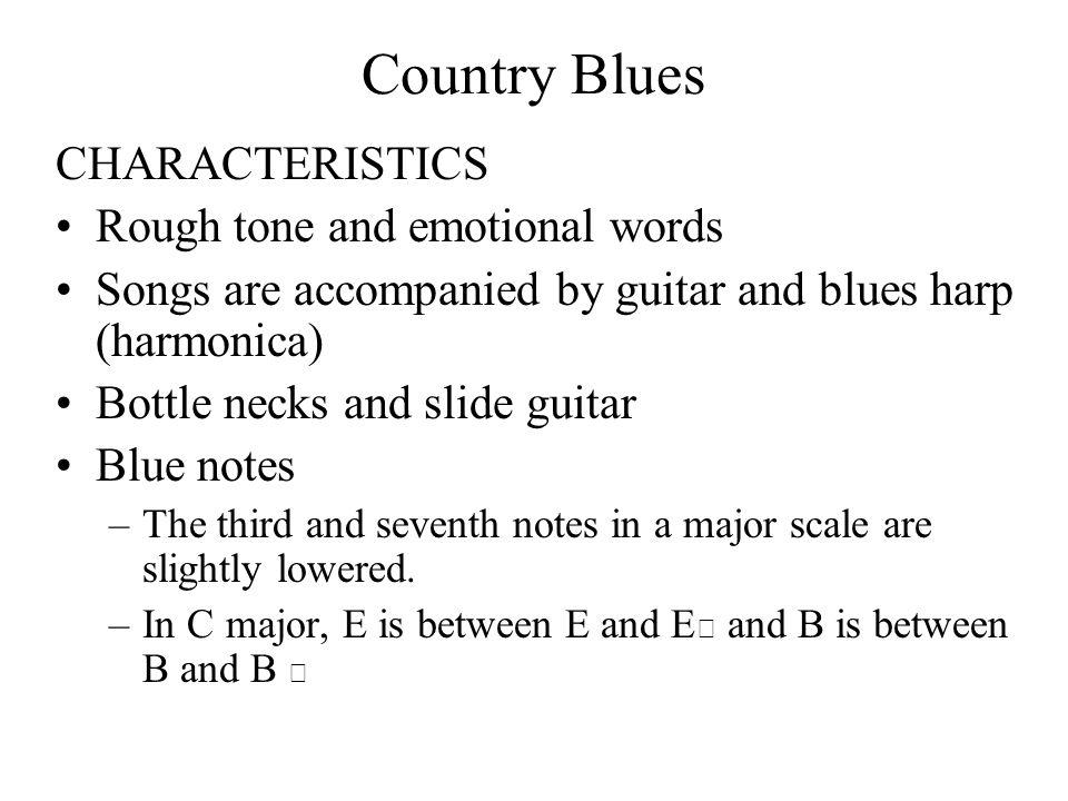 Distinguishing characteristics of music?