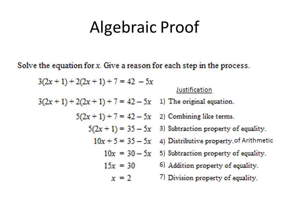 Class Notes Ch. 2 Introduction to Logical Reasoning, Algebraic and ...