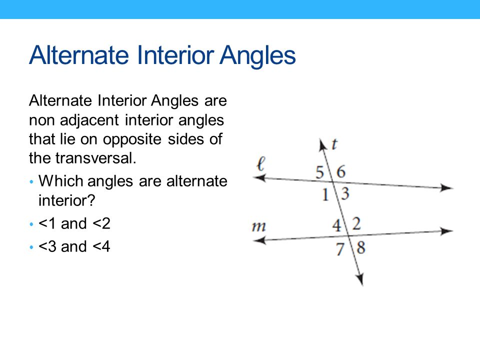 31 PROPERTIES OF PARALLEL LINES SWBAT Identify angles formed by