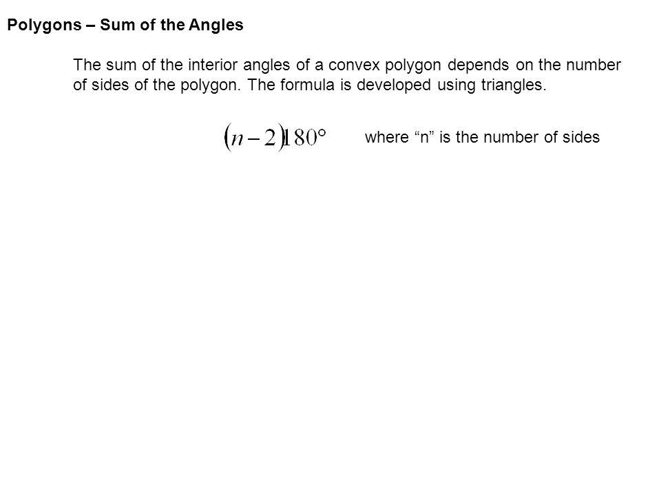 1 Polygons U2013 Sum Of The Angles ...