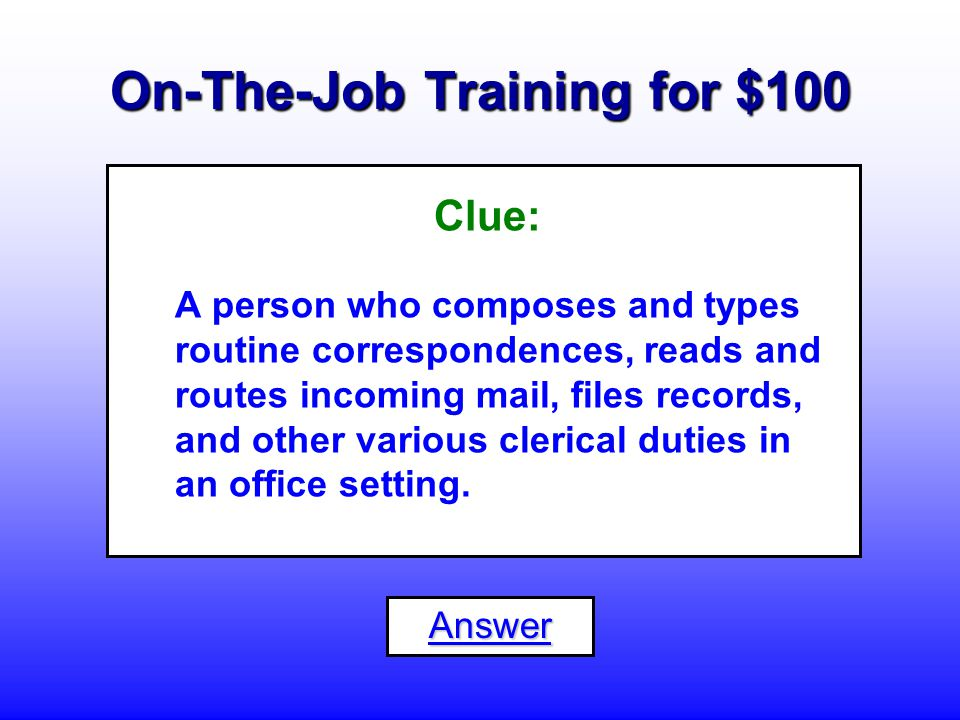 High School Diploma for $500 What is an... Office Machine Operator
