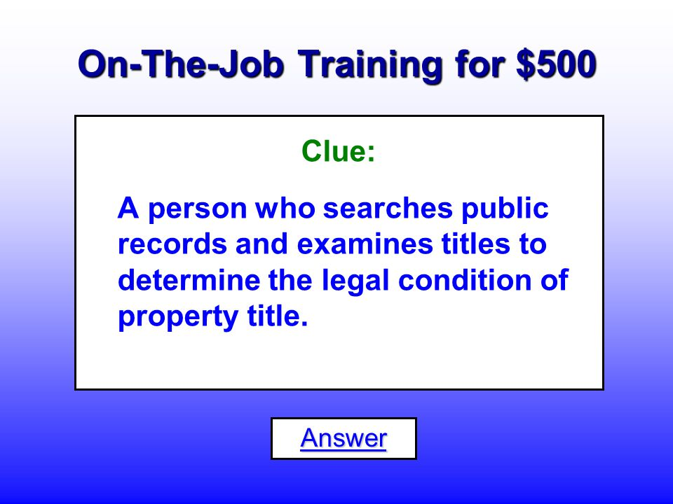 On-The-Job Training for $400 What is a... Correspondence Clerk