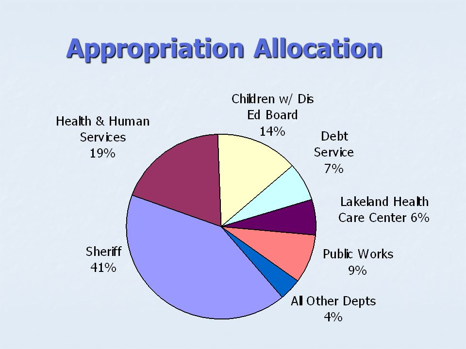 Appropriation Allocation