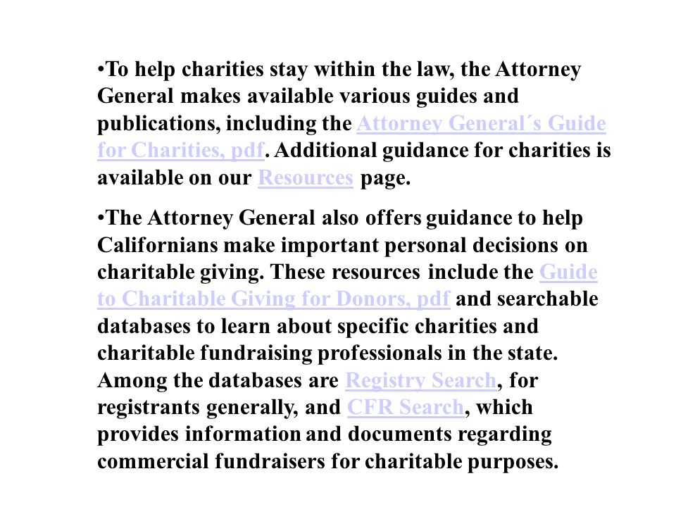 California attorney general charitable gambling casino club hotel las tag vegas