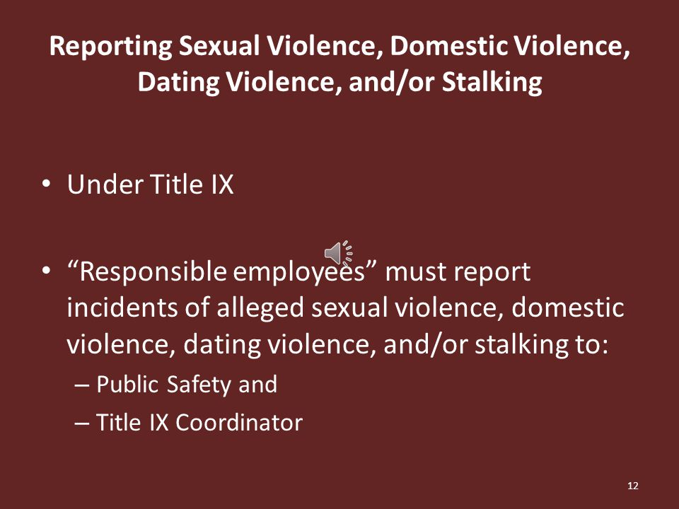 Stalking A course of conduct that would cause a reasonable person to: – fear for their own or others' safety; or – suffer substantial emotional distress.