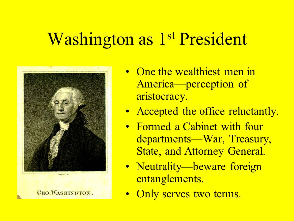 The Early Republic First Presidential Election, 1789 Candidates ...