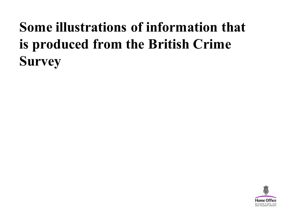 Some illustrations of information that is produced from the British Crime Survey