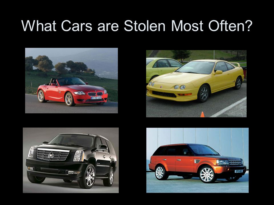 What Cars are Stolen Most Often