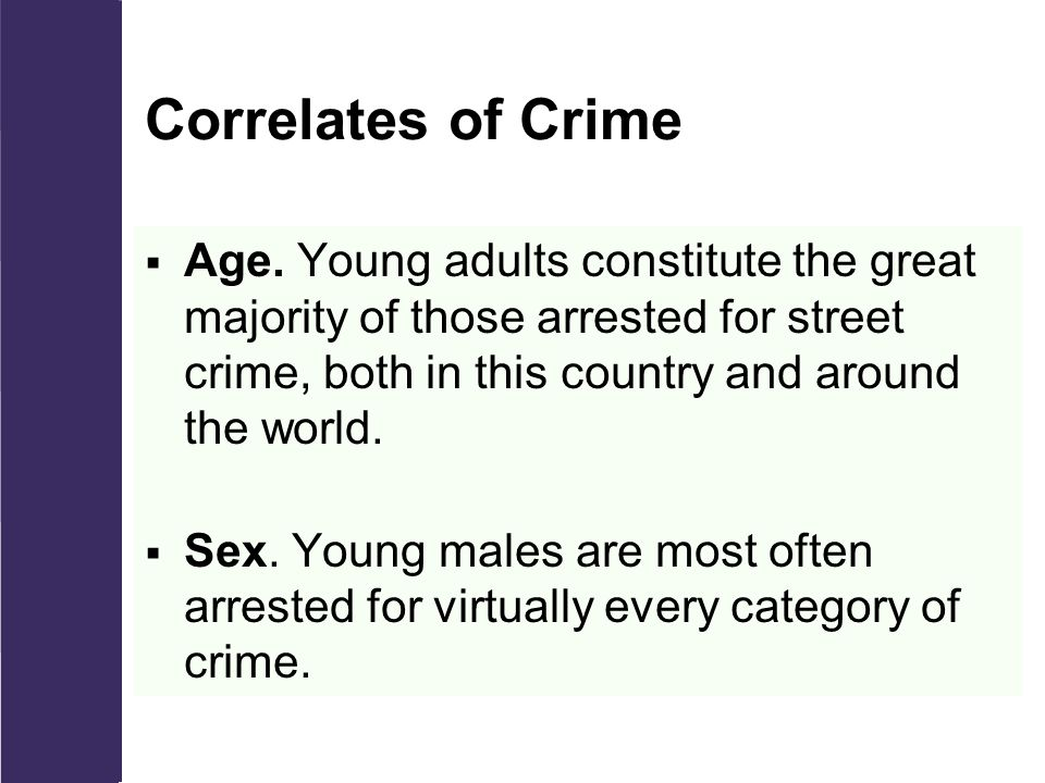 Correlates of Crime  Age.