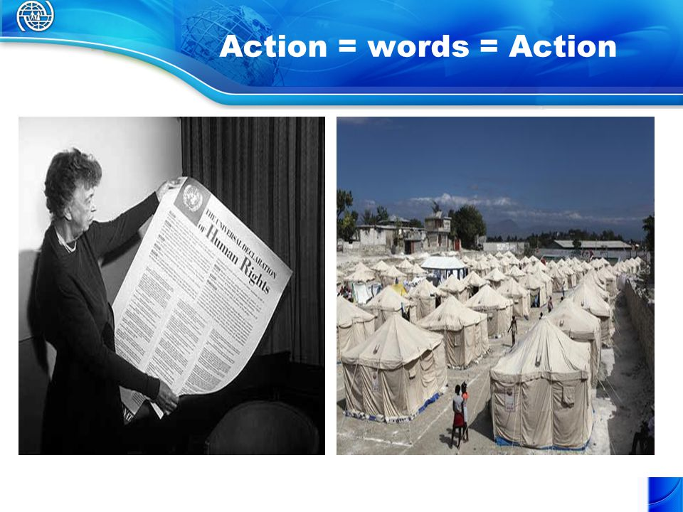 Action = words = Action