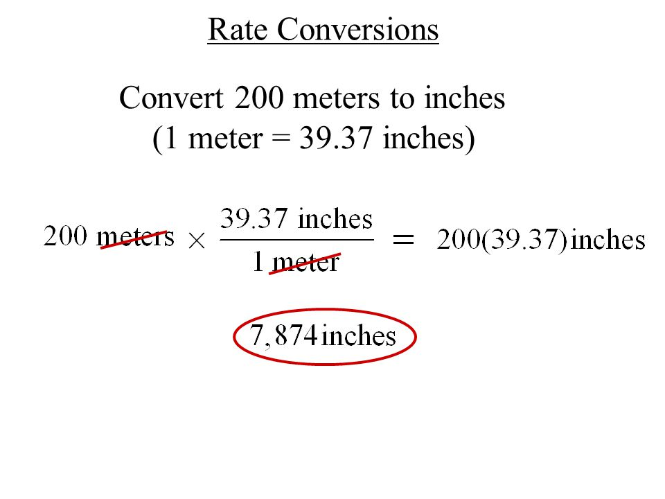 100 how to convert meters to 1
