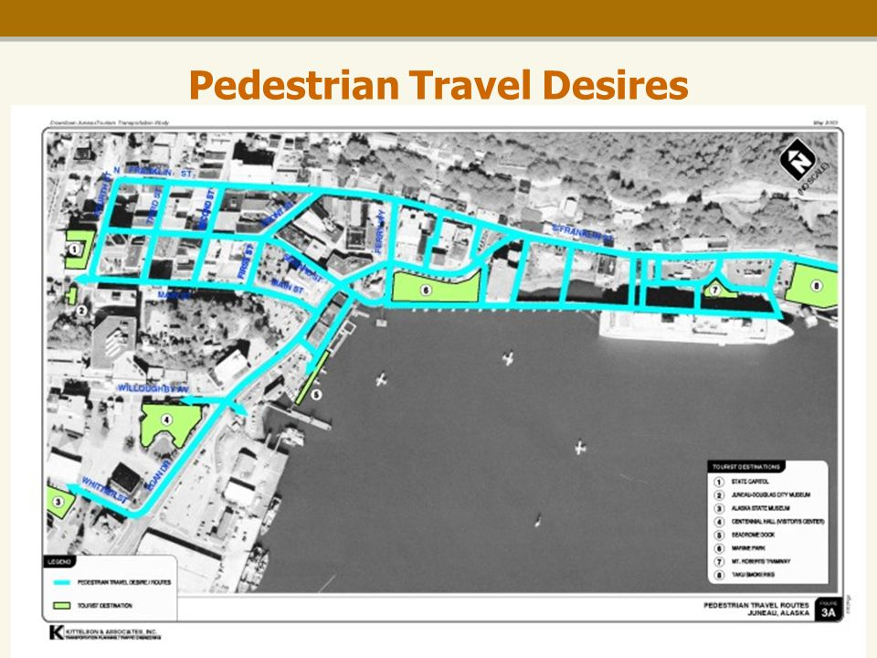 Downtown Tourism Transportation Study Pedestrian Travel Desires