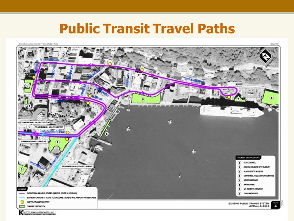 Downtown Tourism Transportation Study Public Transit Travel Paths