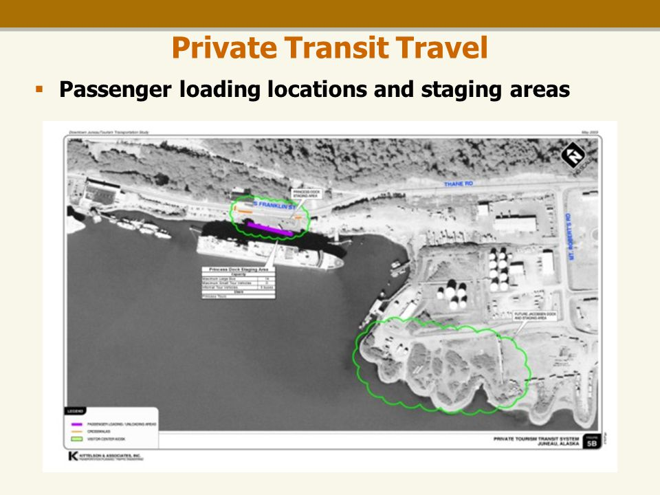 Downtown Tourism Transportation Study Private Transit Travel  Passenger loading locations and staging areas