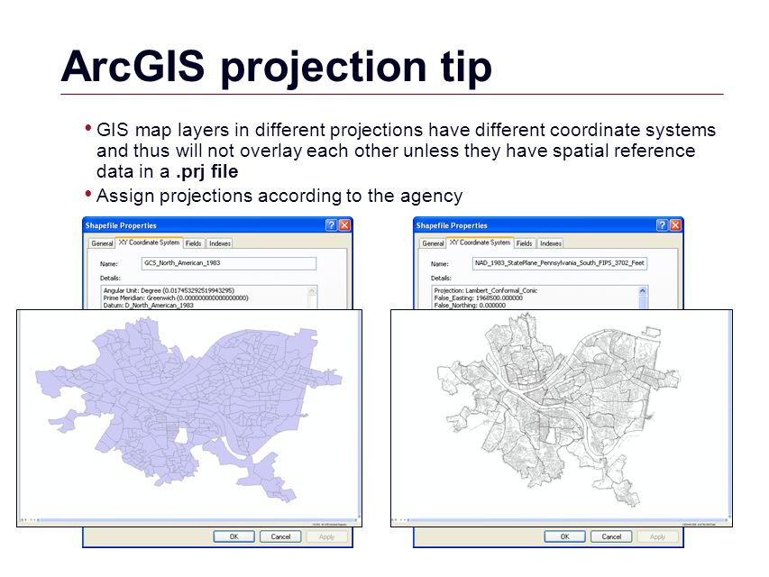 GIS Geographic Coordinates GIS Geographic Coordinate System - Us map different projections