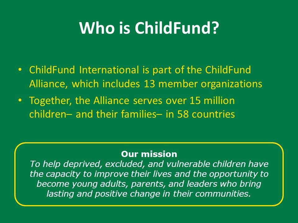 Who is ChildFund.