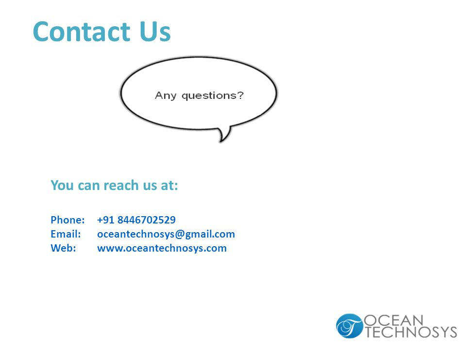Contact Us You can reach us at: Phone: Web: