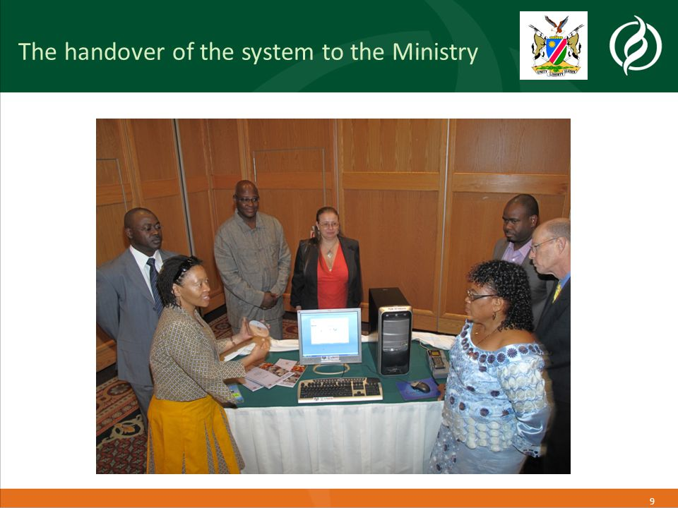 9 The handover of the system to the Ministry